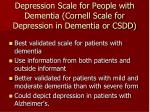 depression scale for people with dementia cornell scale for depression in dementia or csdd