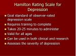 hamilton rating scale for depression
