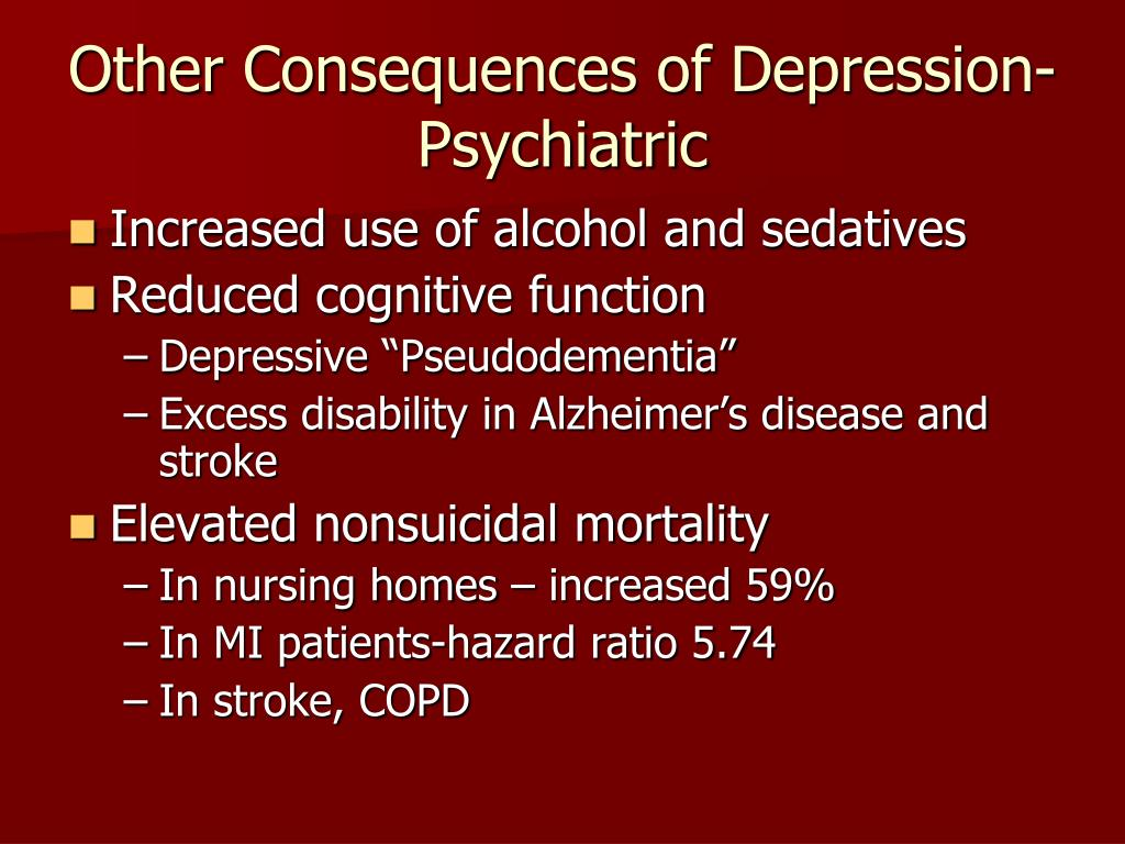 Other Consequences of Depression-Psychiatric