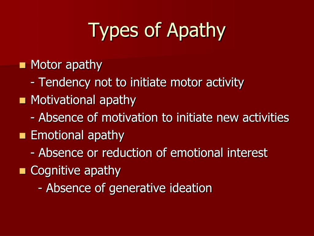 Types of Apathy