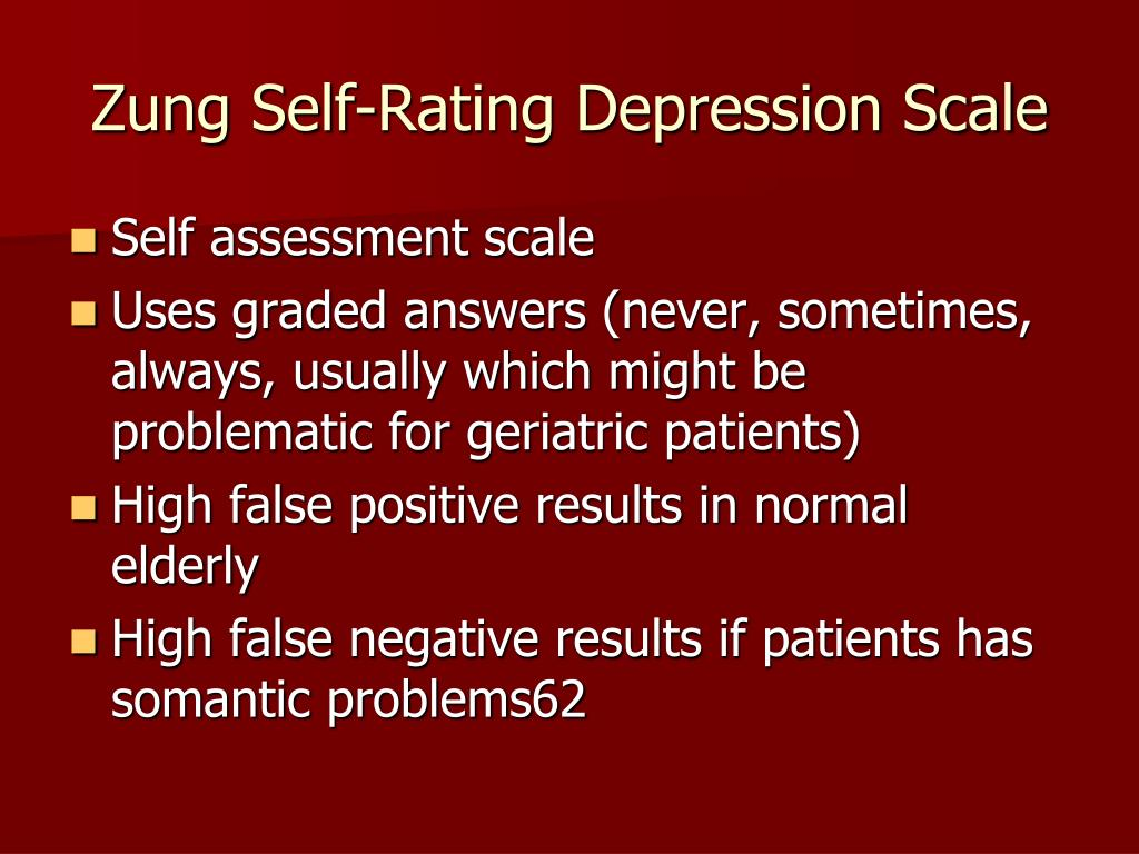 Zung Self-Rating Depression Scale