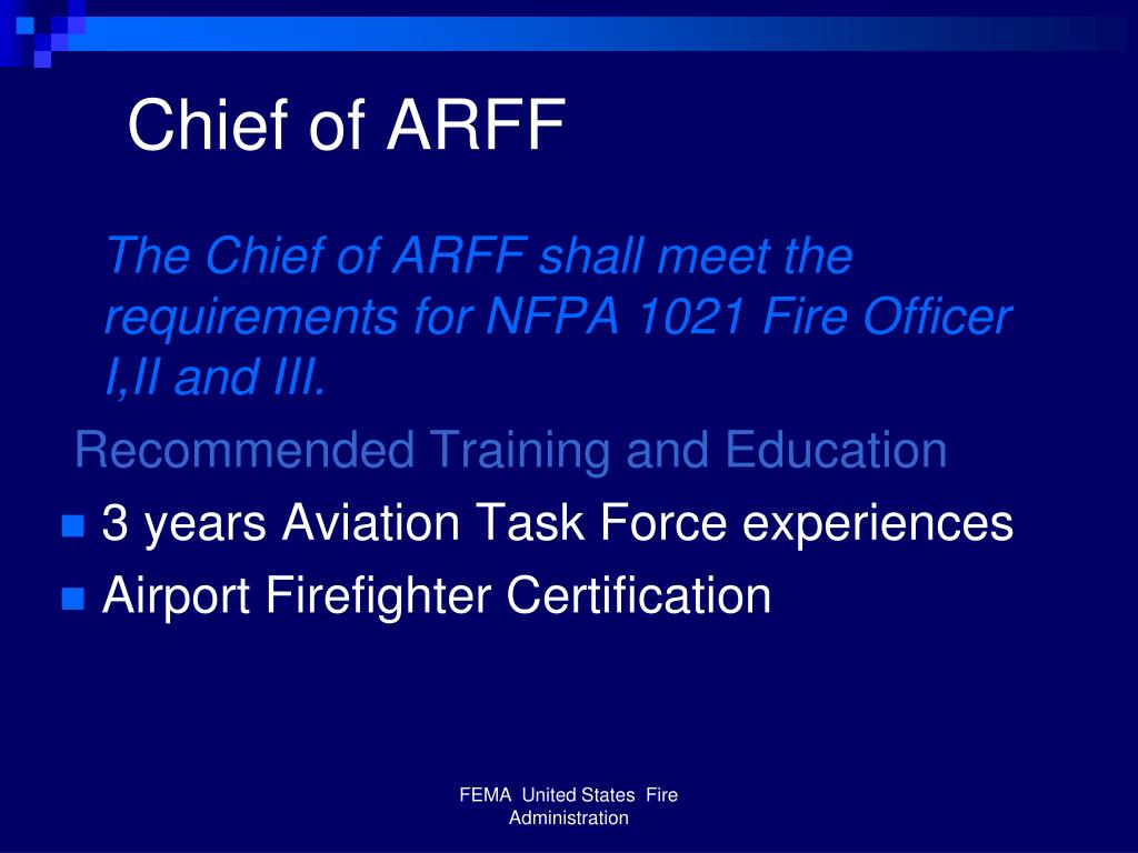 Chief of ARFF