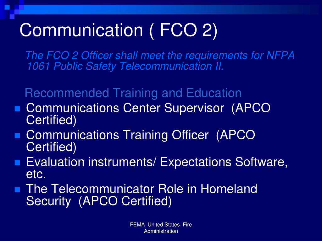 Communication ( FCO 2)