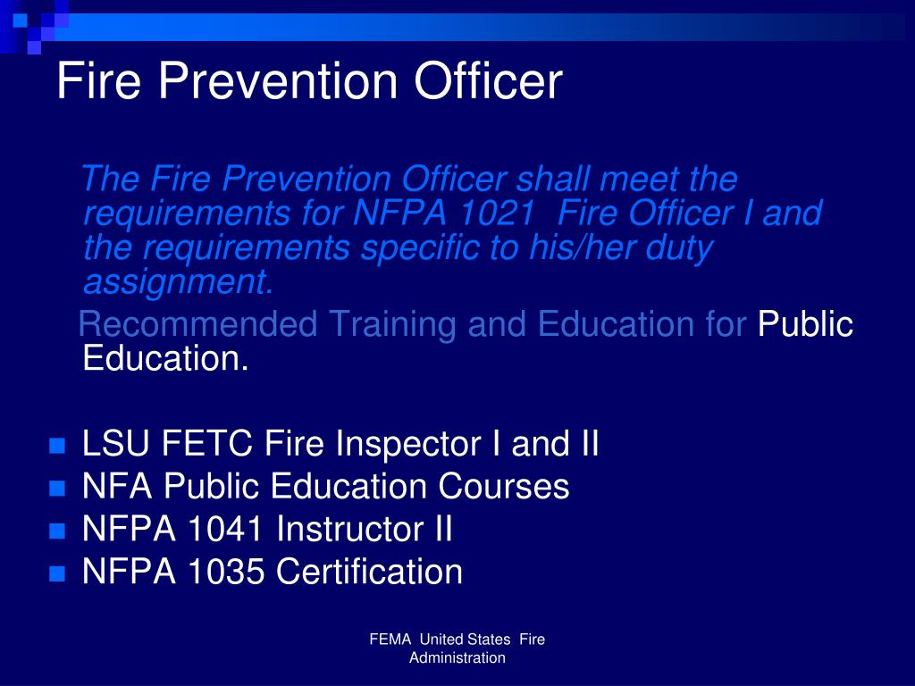 Fire Prevention Officer