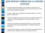 routeways through a unified system