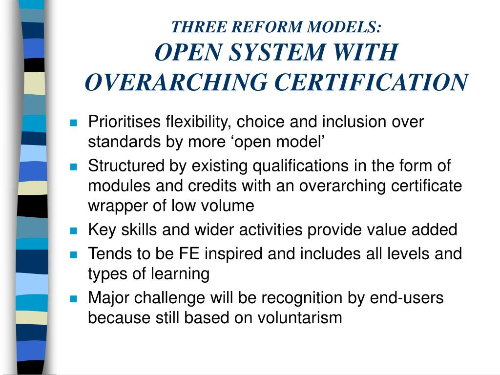 THREE REFORM MODELS: