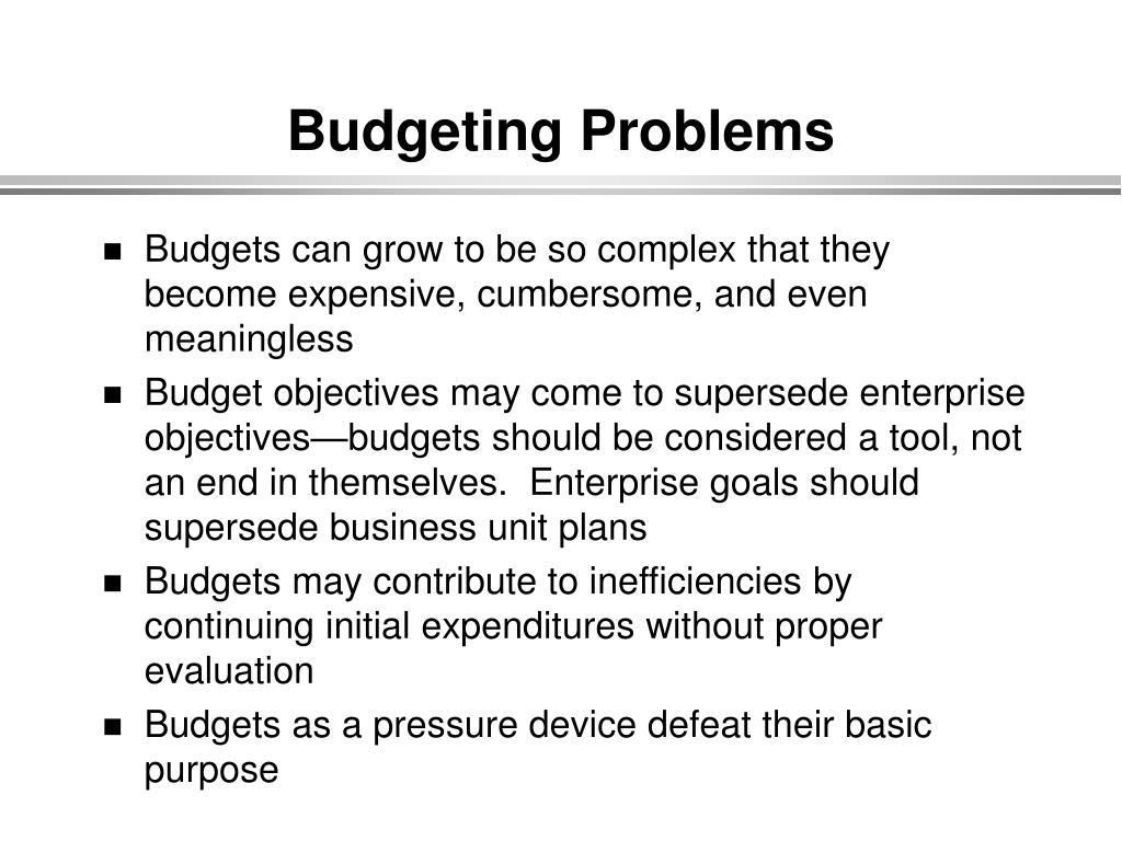 Budgeting Problems