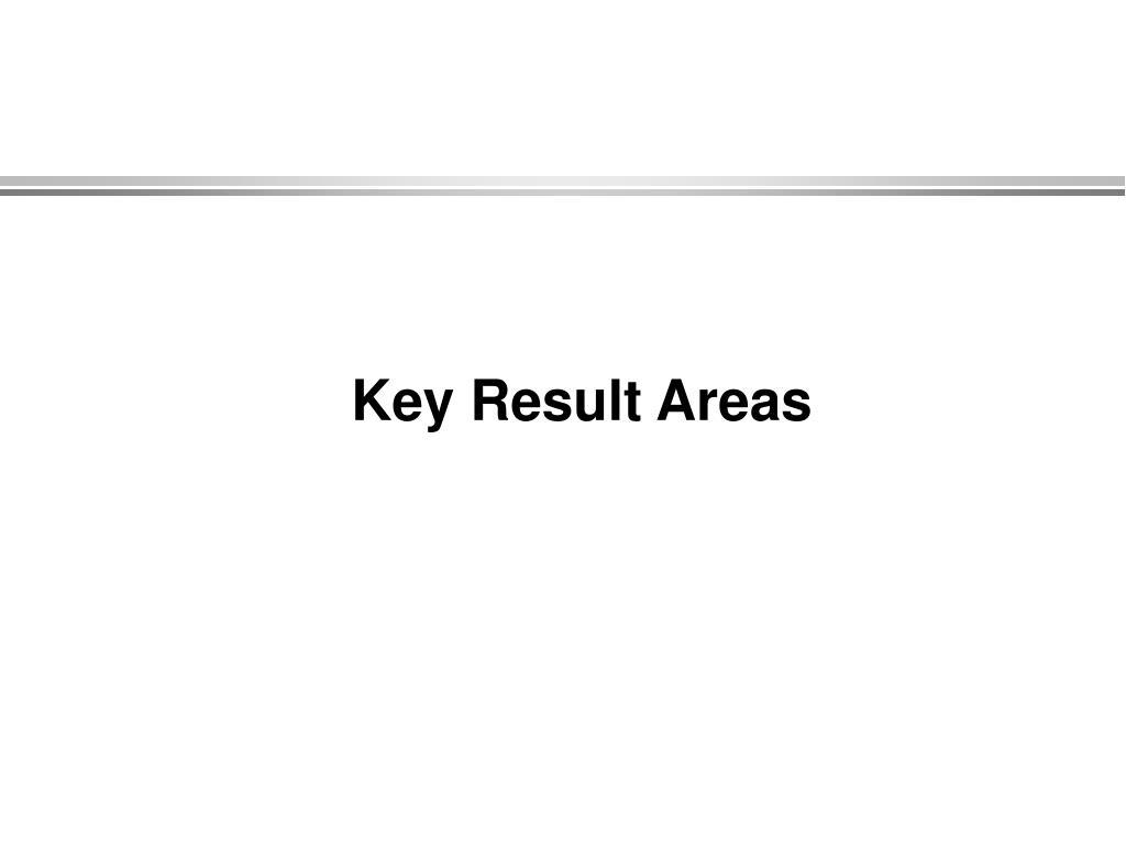 Key Result Areas