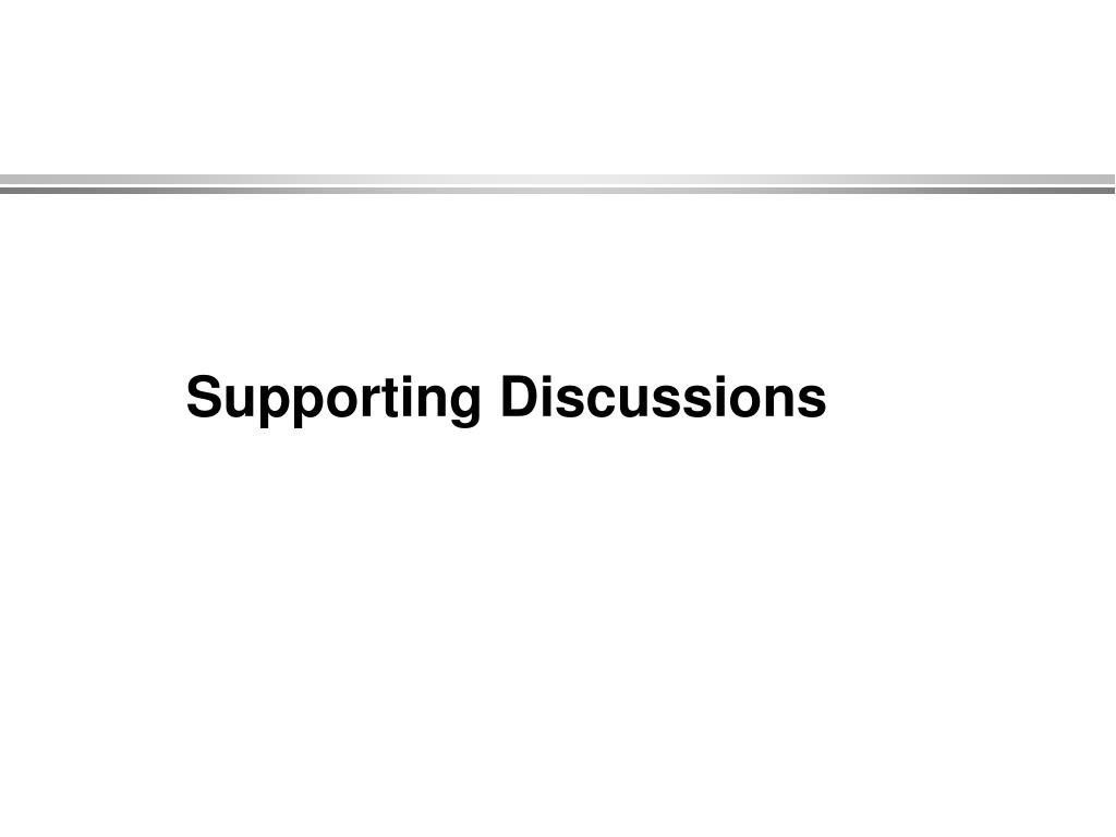 Supporting Discussions
