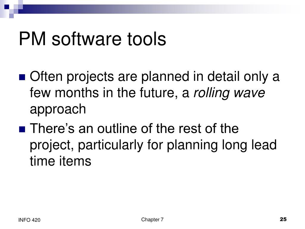 PM software tools