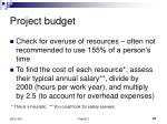 project budget27
