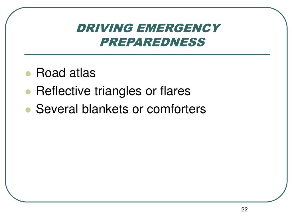 DRIVING EMERGENCY