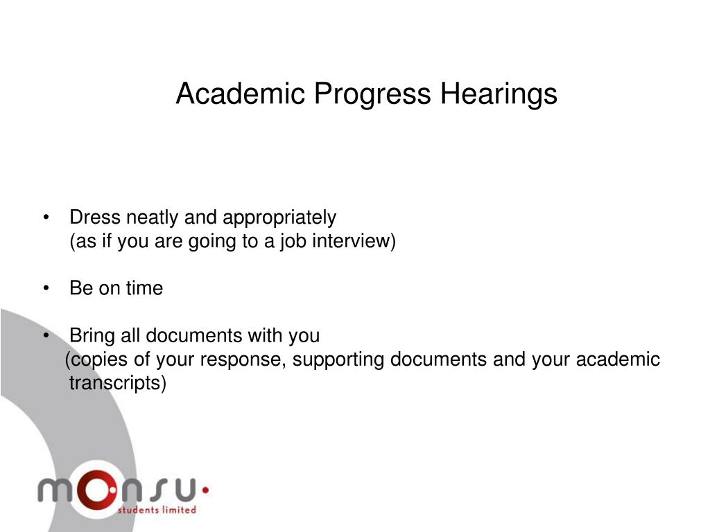 Academic Progress Hearings