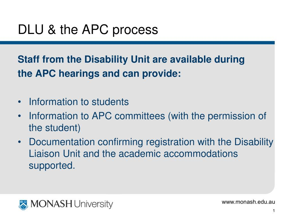 DLU & the APC process