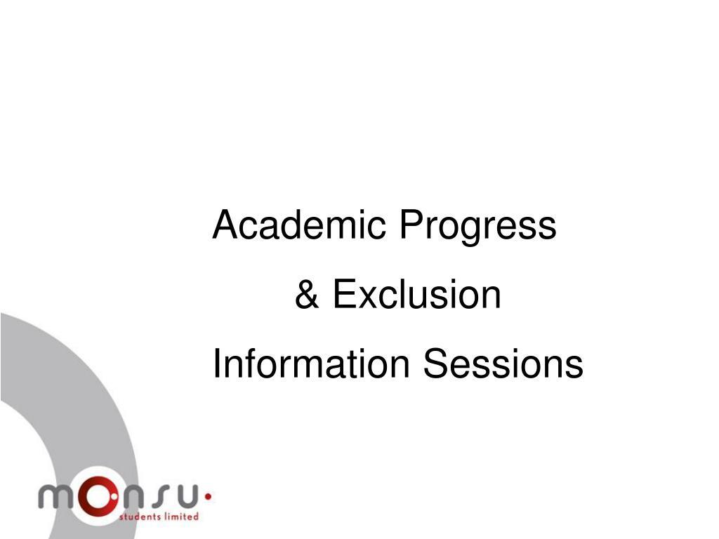 Academic Progress