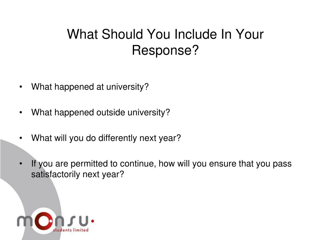 What Should You Include In Your Response?