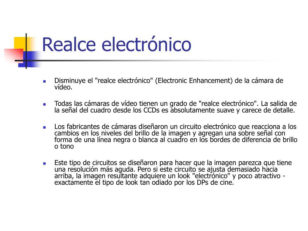 Realce electrónico