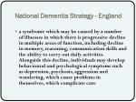 national dementia strategy england