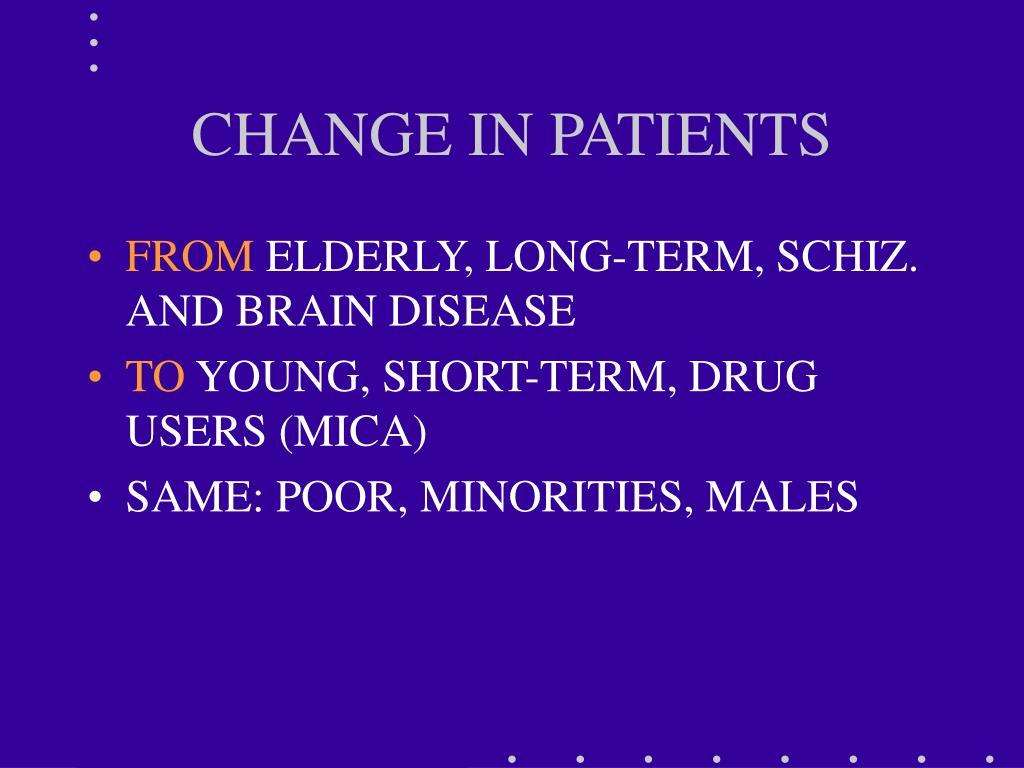CHANGE IN PATIENTS