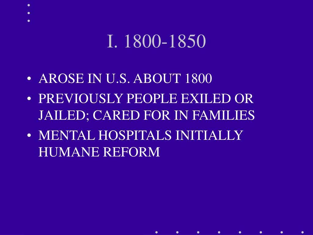 I. 1800-1850