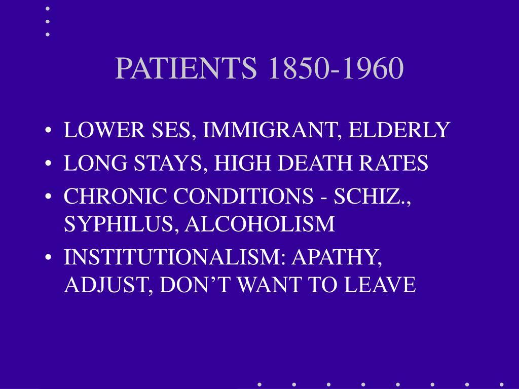 PATIENTS 1850-1960
