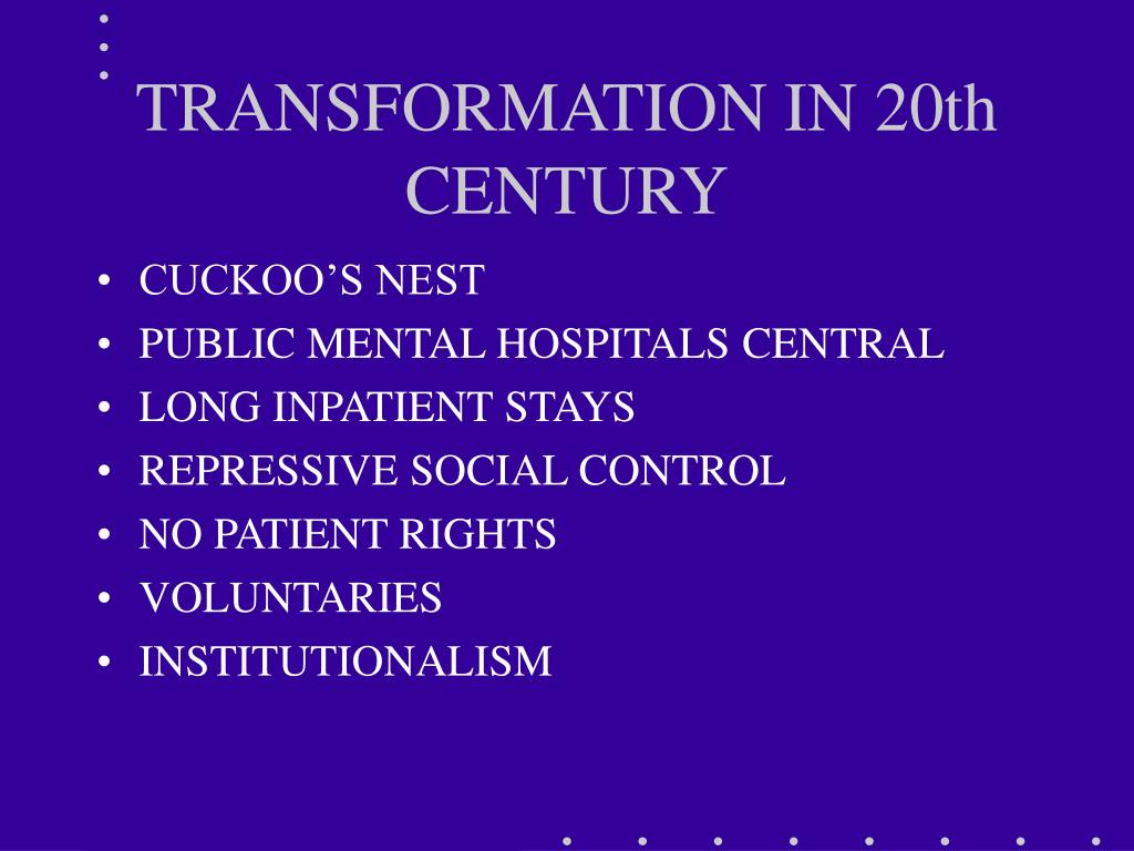 TRANSFORMATION IN 20th CENTURY