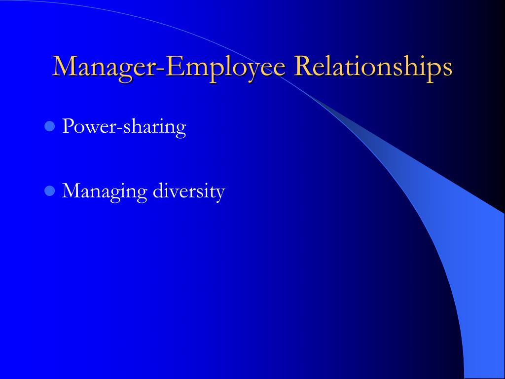 Manager-Employee Relationships