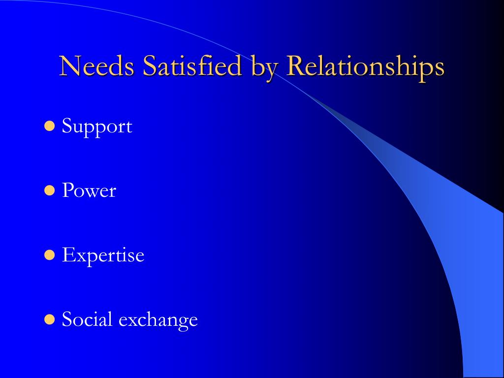 Needs Satisfied by Relationships