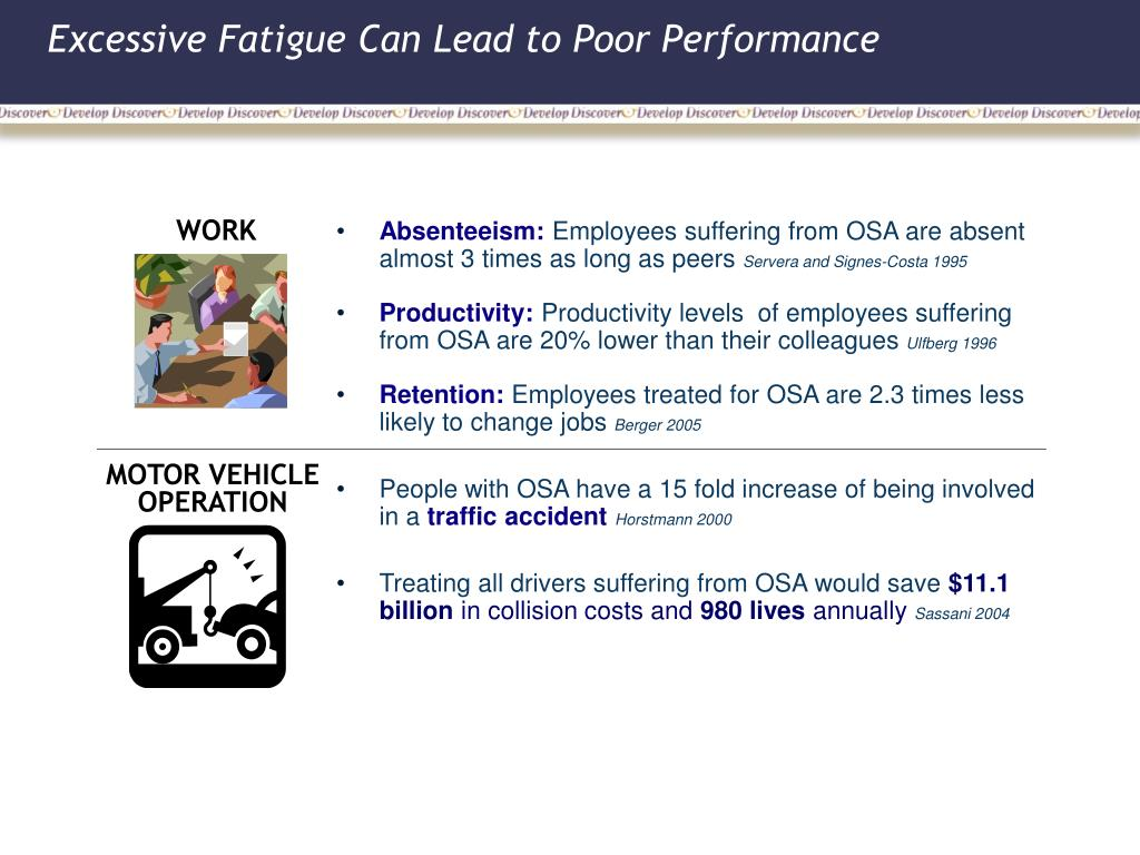 Excessive Fatigue Can Lead to Poor Performance