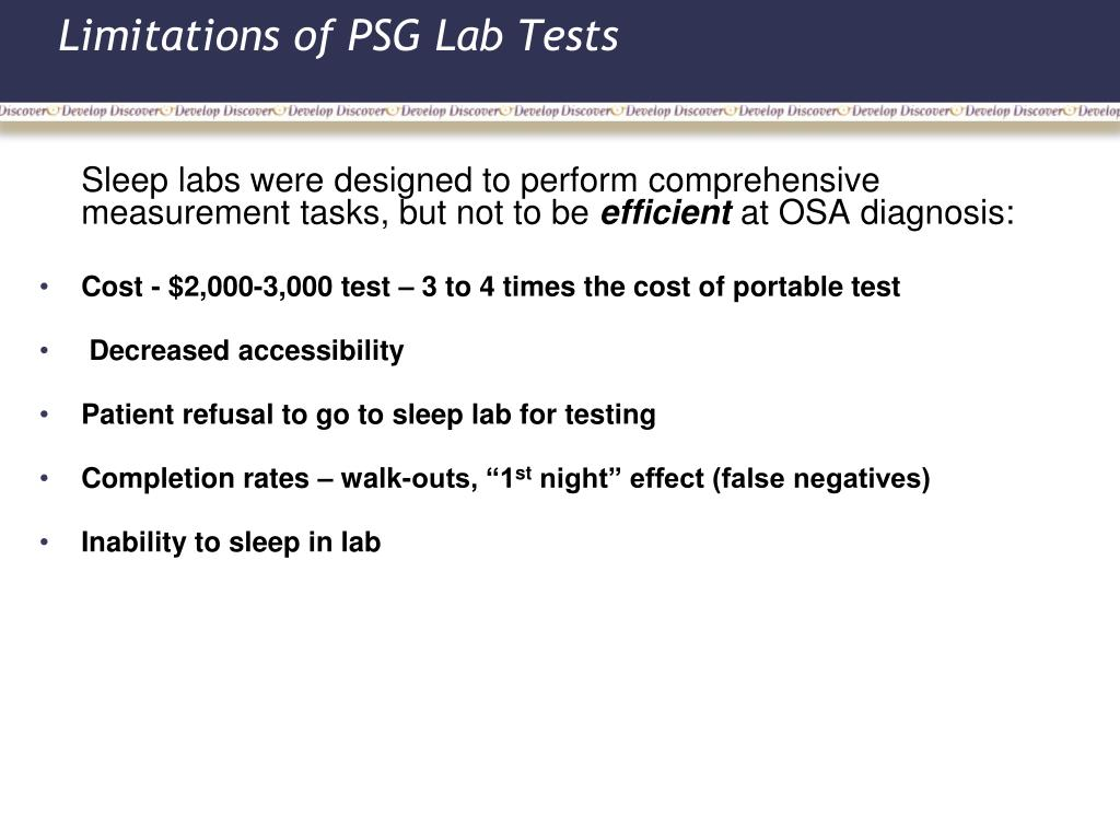 Limitations of PSG Lab Tests