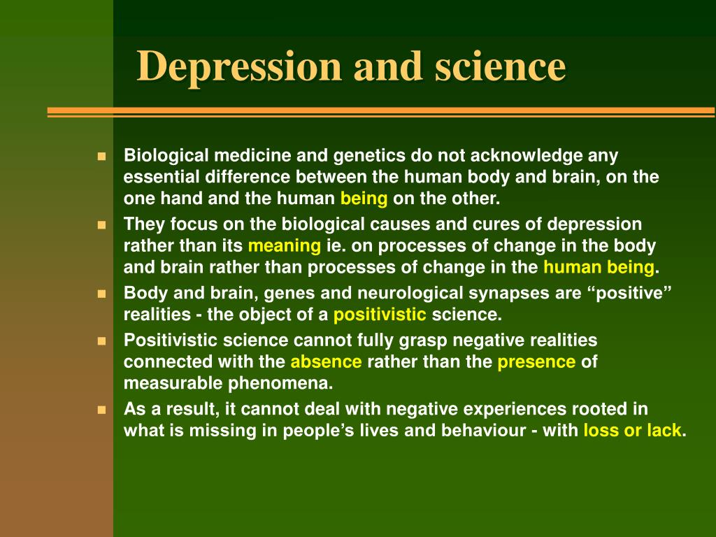 Depression and science