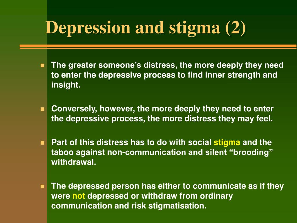 Depression and stigma (2)