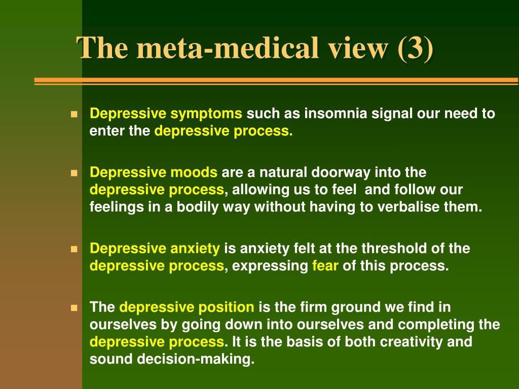 The meta-medical view (3)