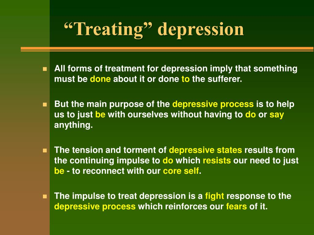 """Treating"" depression"