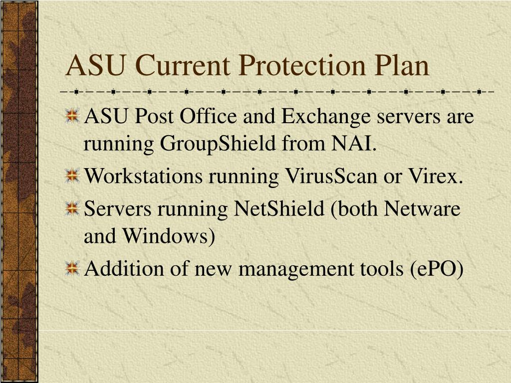 ASU Current Protection Plan