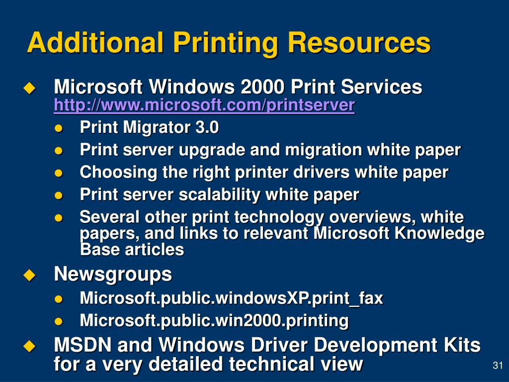 Additional Printing Resources