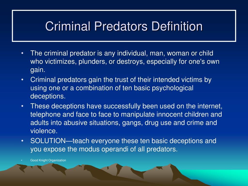 Criminal Predators Definition