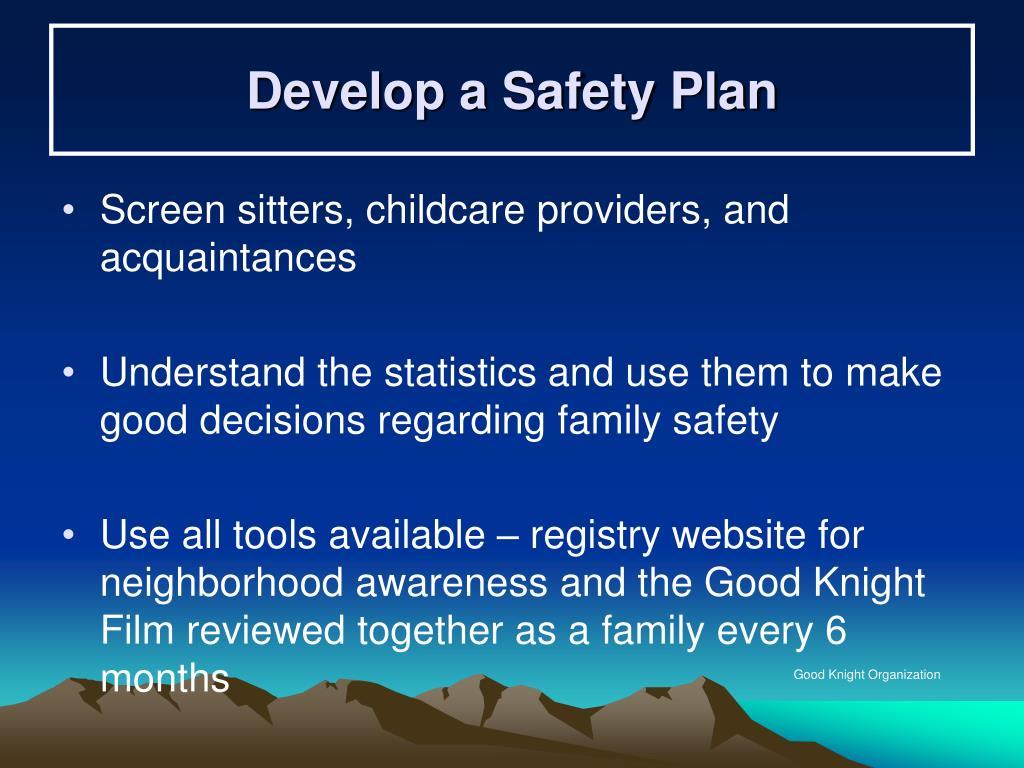 Develop a Safety Plan