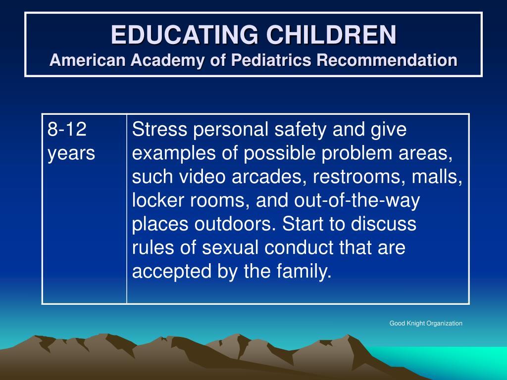 EDUCATING CHILDREN