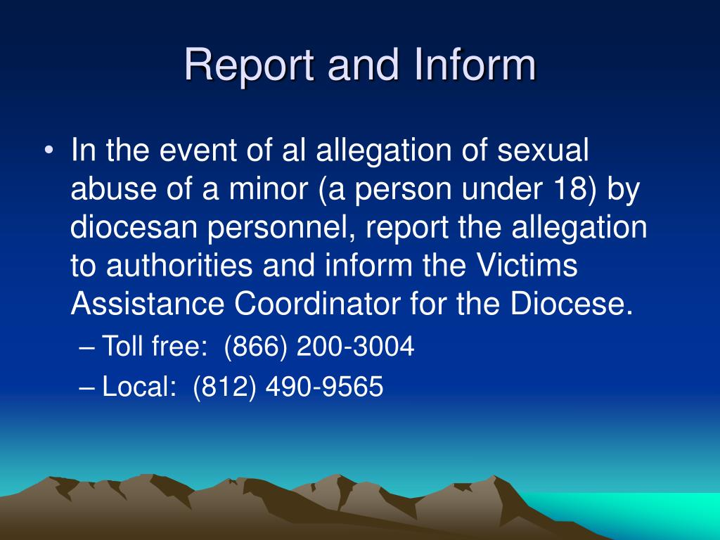 Report and Inform