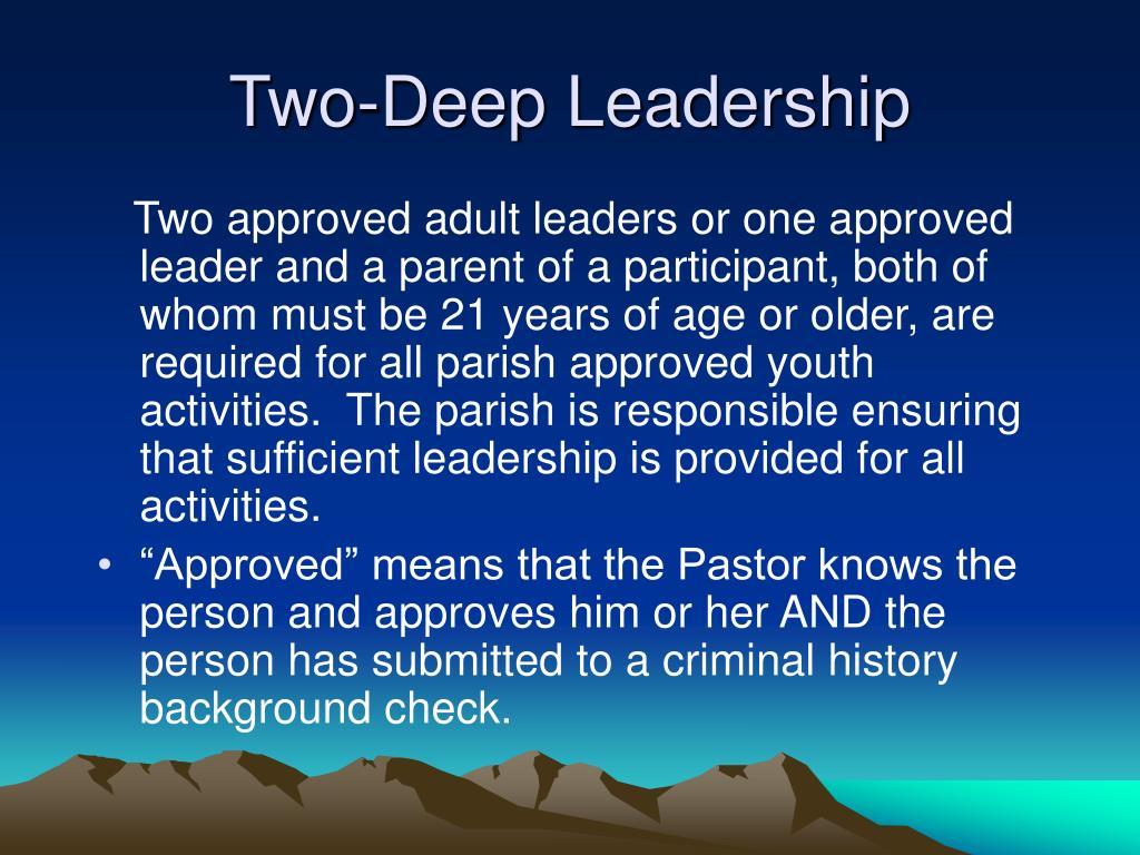 Two-Deep Leadership