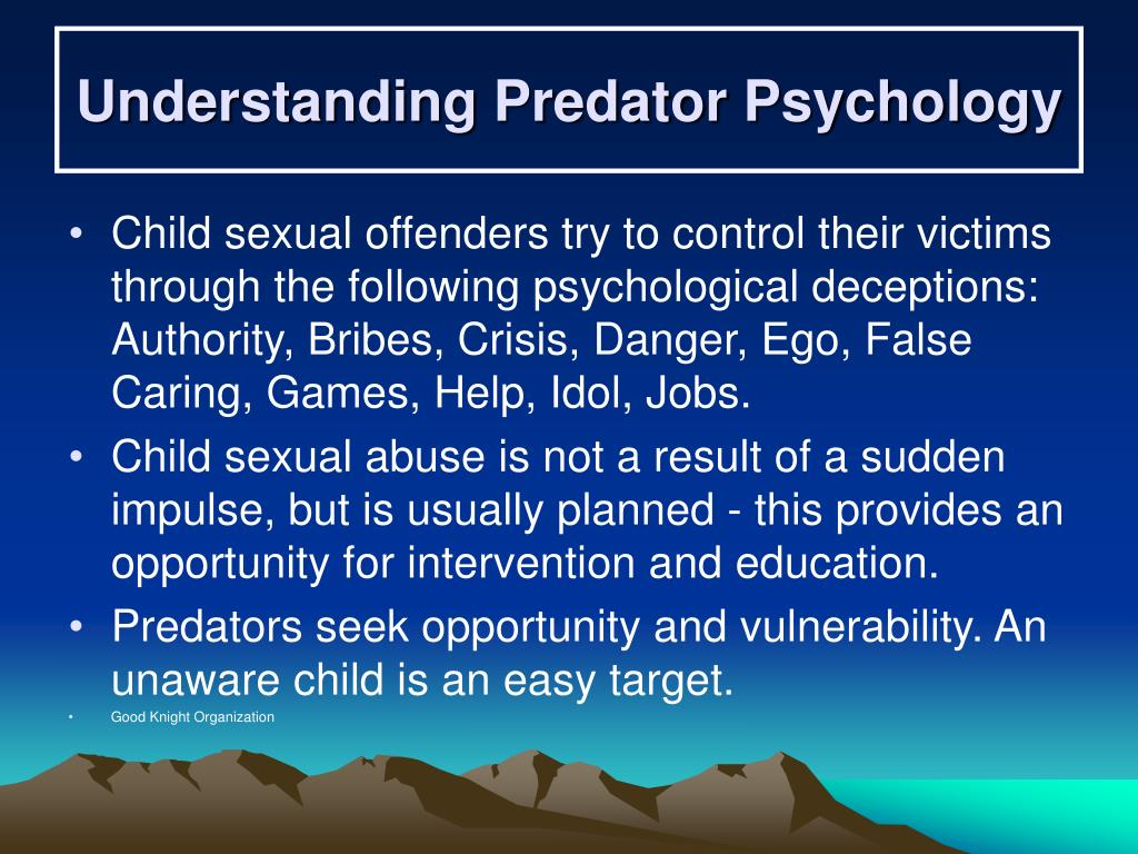 Understanding Predator Psychology