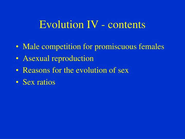 Evolution iv contents