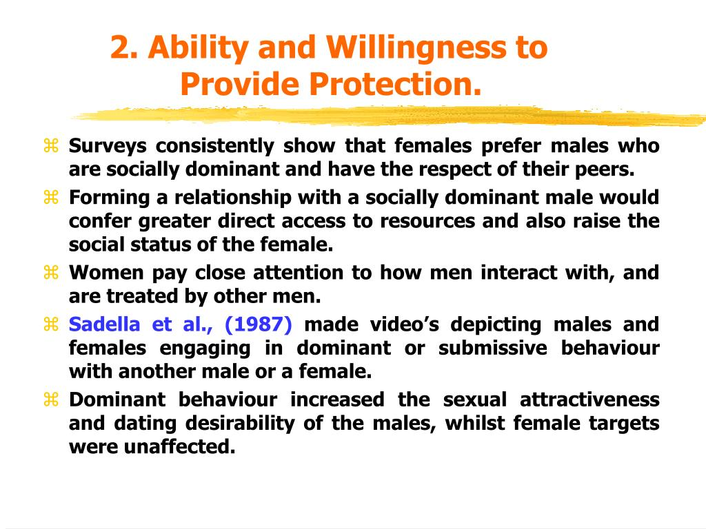 2. Ability and Willingness to Provide Protection.