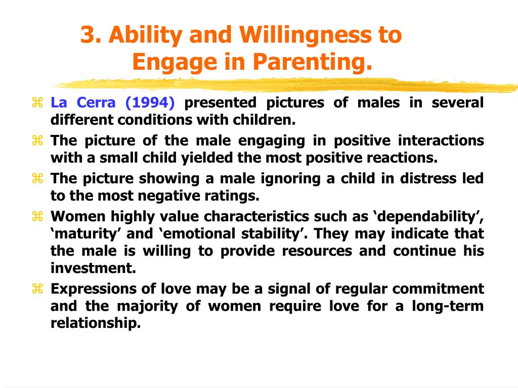 3. Ability and Willingness to
