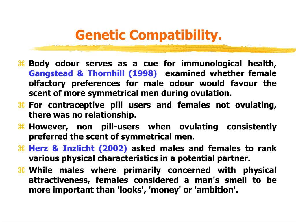 Genetic Compatibility.