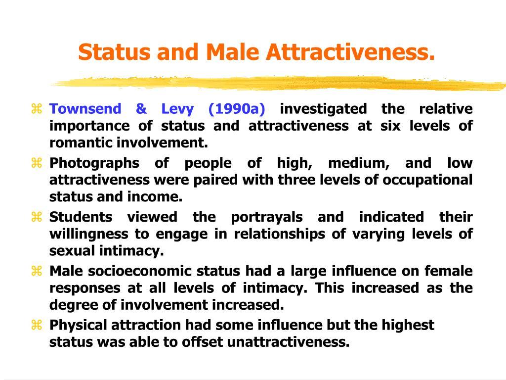 Status and Male Attractiveness.