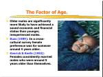 the factor of age