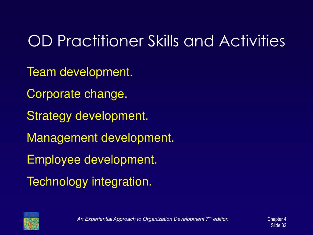 OD Practitioner Skills and Activities