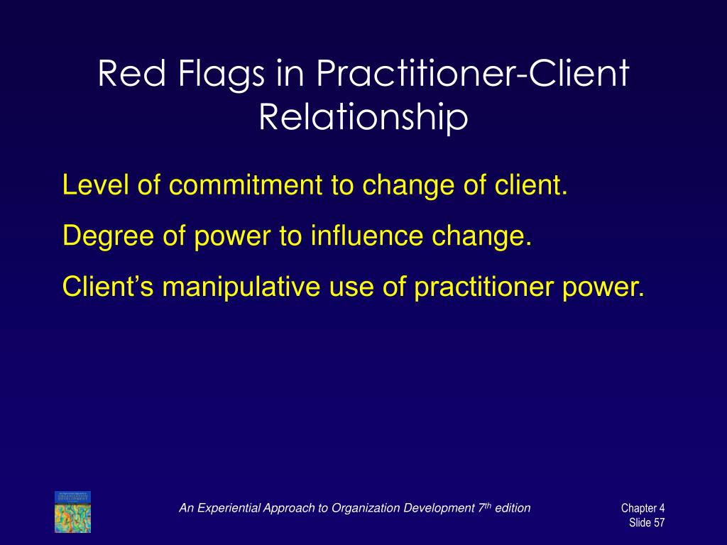 Red Flags in Practitioner-Client Relationship